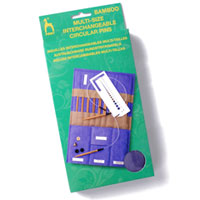 Multi-size Interchangeable Circular Bamboo Knitting Pin Case