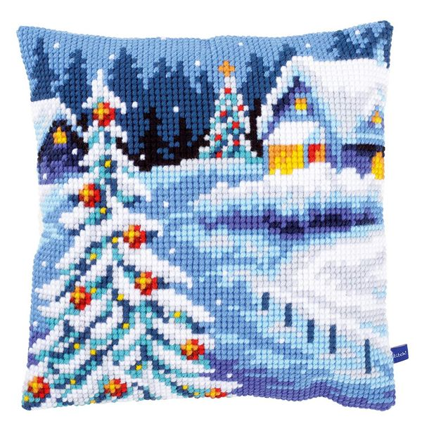 Winter Scenery ~ Printed Chunky Cross Stitch Cushion Front Kit