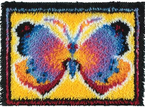Wonderart Latch Hook Kit - Butterfly Fantasy - 15x20""