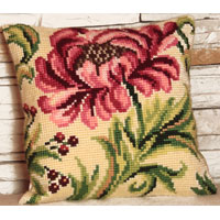 Wild Rose Chunky Cross Stitch Cushion Front Kit