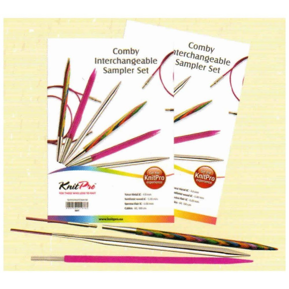Knitpro Comby Interchangeable Wood Metal Acrylic Sampler Set