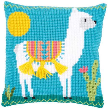 Llama Printed Chunky Cross Stitch Cushion Front Kit