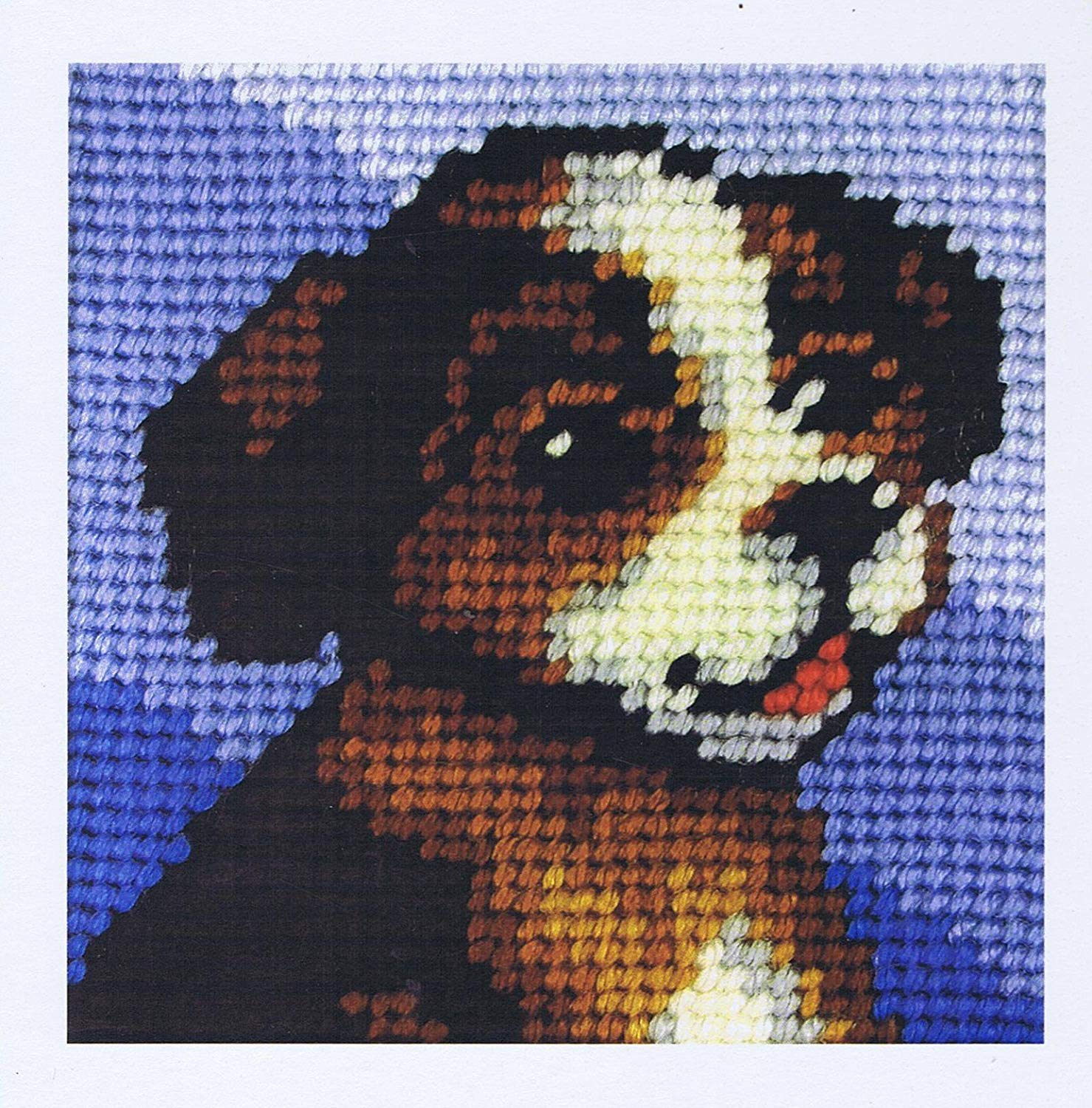 Brown Puppy  - My First Embroidery Kit - 16x16cm approx