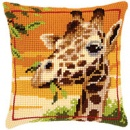 Giraffe Chunky Cross Stitch Cushion Front Kit 40x40cm