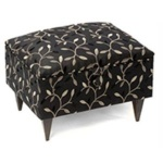 Premium Sewing Stool - Emroidered leaf on black