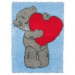 Tatty Ted (Me To You) Heart Rug Latch Hook Kit. Anchor.