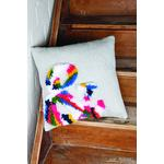 Vervaco Latch Hook & Chain Stitch Cushion Kit. Printed canvas c/