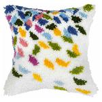 Large Confetti Latch Hook Cushion Front Kit. Orchidea, 40x40cm P