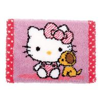 Hello Kitty With Dog Vervaco Latch Hook kit 55x38cm