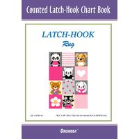 Counted Latch hook Chart - Pets On Pink - 90x134 holes