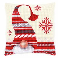 Christmas Elf ~ Chunky Cross Stitch Cushion Front Kit