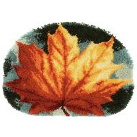 Autumn Leaf Latch Hook Kit Rug Making Kit by Vervaco 70x50cm