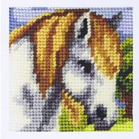 White Horse - My First Embroidery Kit - 16.5x16.5cm approx