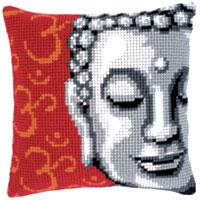 Buddha Chunky yarn cross stitch cushion front kit