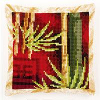 Bamboo Tree Chunky Cross Stitch Cushion Front Kit
