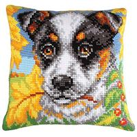 Dor & Autumn Leaves Chunky Cross Stitch Cushion Front Kit