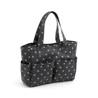 Vinyl Knitting Bag Craft Storage Bag - Charcoal