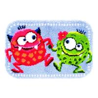 Dancing Monsters Latch Hook Kit Vervaco 70x46cm