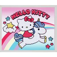 Diamond Painting Kit: Hello Kitty: with Unicorn 37x30cm