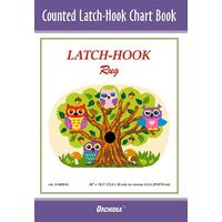 Counted Latch hook Chart - Owls - 90x134 holes