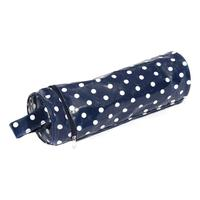 Vinyl Yarn & Needle Holder - Navy Spot