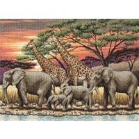 Maia Collection - African Sunset Counted Cross Stitch Kit