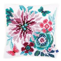 Flower Paradise 2 - Chunky Cross Stitch Cushion Front Kit 40x40