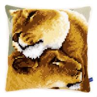 African Lions Chunky Cross Stitch Cushion Front kit