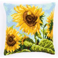 NEW Sunny Sunflower Chunky Cross Stitch cushion front Kit