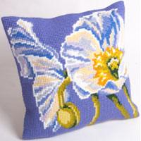 Snow Poppy Chunky Cross Stitch Cushion Front Kit