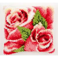 Roses Roses! Latch Hook Cushion Front Kit 40x40cm