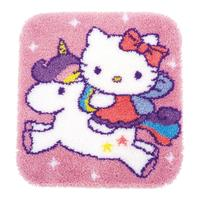 Hello Kitty & Unicorn Latch Hook Kit from Vervaco 55x61cm