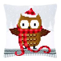 Santa Owl  Chunky Cross Stitch cushion Front Kit 139
