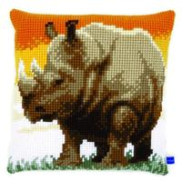 African Rhino Chunky Cross Stitch Kit 40x40cm