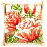 Pink Roses II Chunky Cross Stitch Cushion Front Kit