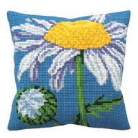 Moon Daisy Chunky Cross Stitch Cushion Front Kit