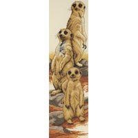 Meerkats Counted Cross Stitch Kit  14x47cm