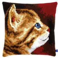 Kitten Chunky Cross Stitch Cushion Front Kit 40x40cm