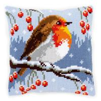Robin & Berries Chunky Cross Stitch Kit 40x40cm