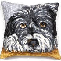 Faithful Dog Chunky Cross Stitch Cushion Front Kit