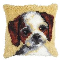 Puppy (Small) Latch Hook Cushion Front Kit. Orchidea, 25x25