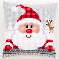 Funny Santa Chunky Cross Stitch cushion Front Kit 139