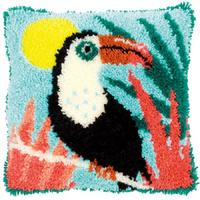Toucan Latch Hook Cushion Front Kit