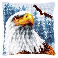 Bald Eagle Chunky Cross Stitch Cushion Front Kit 40x40cm