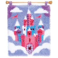 Fairytale Castle Latch Hook Kit Rug Making Kit by Vervaco 43x51c