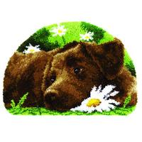 Chocolate Labrador Latch Hook Kit 69x46cm
