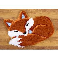Sleeping Fox Latch Hook Kit 55x46cm