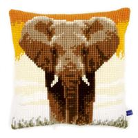African Elephant- Chunky Cross Stitch Kit 40x40cm