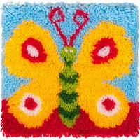 EuroCraft Latch Hook Kit -Butterfly Printed canvas, yarns, chart