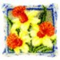 Daffodils Latch Hook Cushion Front Kit 40x40cm